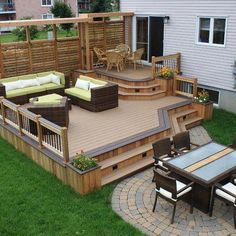 Small backyard deck ideas patio plans pictures outdoor designs of exemplary awesome decks design home furniture . Wood Deck Designs, Deck Railing Design, Patio Design, Small Deck Designs, Garden Design, Backyard Designs, Balcony Railing, Pergola Designs, Backyard Projects