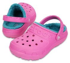 894db571eac6d9 Crocs Hilo Lined Clog in Pink Turquoise