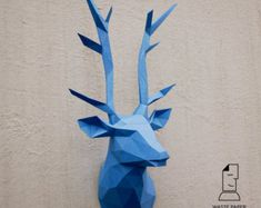 Papercraft deer head 1 - printable DIY template