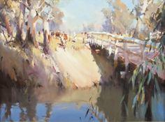 Ross Paterson - Google Search Watercolor Landscape, Watercolour Painting, Landscape Paintings, Australian Painters, Australian Art, Three Dimensional, Gouache, Bridges, Art Gallery