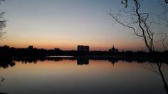When the sun goes down în Herăstrău Park🌆