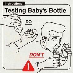 Testing babies bottle do don't