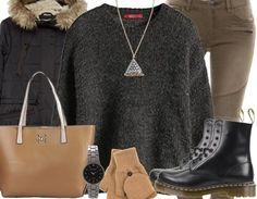 On aime les chaussures Dr. Martens! Ici pour les détails de cette tenue d'hiver:  http://stylefru.it/s974178 #noir #drmartens