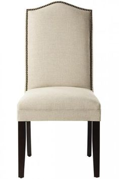 Custom Camel-Back Parsons Chair with Nailhead Trim - Dining Chairs - Kitchen And Dining Room Furniture - Furniture | HomeDecorators.com $199