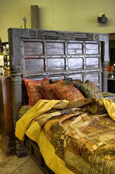 Unique beds and linens available