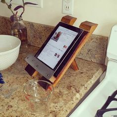 Wine Barrel IPad/Tablet Holder by FALLENOAKDESIGNS on Etsy