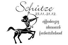 """Wandtattoo """"Sternzeichen - Schütze"""""""