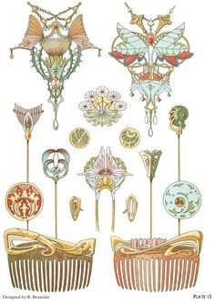 ART NOUVEAU JEWELRY DESIGNS By: Rene Beauclair - Welcome to Dover Publications  - Excerpt  4
