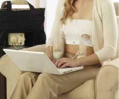 Medela Easy Expression Bustier leaves your hands free as you pump so you can catch up on email, surf the web, or read. | 31 Ingenious Products That Will Make Parenting So Much Easier