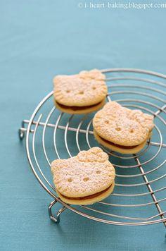 i heart baking!: hello kitty alfajores - dulce de leche sandwich cookies
