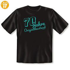 Schönes T-Shirt zum 70. Geburtstag: 70 Jahre ORIGINALZUSTAND!! coole Geschenkidee für Rentner - Shirts zum geburtstag (*Partner-Link)