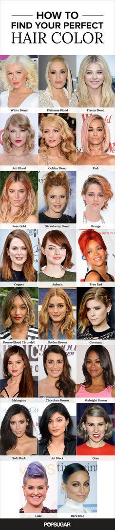 The ultimate hair-color guide — get inspired by these gorgeous celebrity shades!