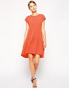 Enlarge ASOS Shift Dress with Dropped Waist in Texture