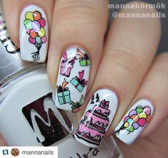 #Repost @mannanails with @repostapp. ・・・ Sweet 22. :) #nail #nails #nailswag #naildesign #nailporn #nail2inspire #birthday #birthdaynails #cake #balloons #sweet22 #moyra #moyranails #stamping #stampingnails #stampingdecal #mannanails