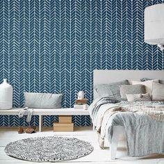 Self adhesive vinyl wallpaper Chevron pattern print by Betapet