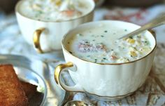 Corn, Crab & Shrimp Chowder not   not sure how healthy this is with heavy cream being in it but sounds amazing.
