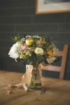 What do I do with my wedding bouquet when I'm not holding it