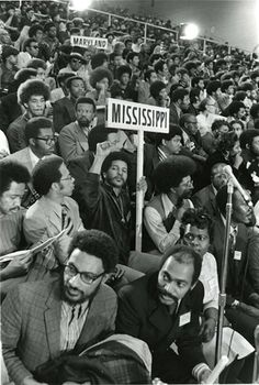 The National Black Political Convention in Gary Indiana (1972) brought together thousands if Black Americans representing a wide range if Political philosophies headed by Gary Mayor Richard Hatcher,  House Rep Charles Diggs & Author Amiri Baraka. (Photographer Robert Sangstacke)