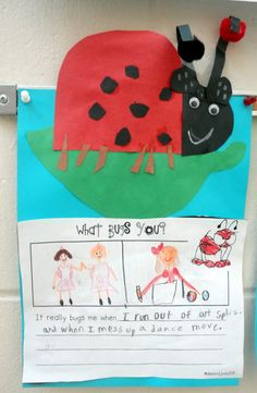 What made the ladybug so grouchy? The Grouchy Ladybug by Eric Carle Kindergarten Writing Insect Activities, Spring Activities, Writing Activities, Writing Ideas, Educational Activities, Spring School, School Fun, School Stuff, Future School