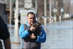 Noah's Ark flooded in western Siberia as animals rescued in emergency operation  Residents marooned on rooftops after snow melt and heavy rain causes Karasul River to burst its banks.