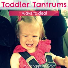 Need to read ASAP: Toddler Tantrums- why they happen and some ways to deal with them. What are your creative tips for dealing with tantrums? For my mama friends!  She's just trying to tell you..let me out of these restraints.  Stop the car at the next rest stop and play for a while.  Food, potty, play .. 3 simple requirements for all children.