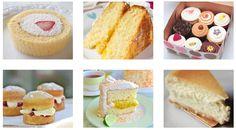 6つのケーキの組合わせ画像