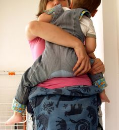 Turn any pants into monkey pants. Free tutorial. For cloth diaper baby butts.