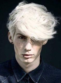 men platinum white hair - Google Search