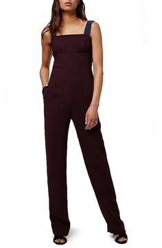 Topshop Cutout Back Pinafore Jumpsuit available at #Nordstrom