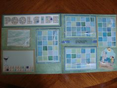 Relaxing Poolside premade 12 x 12 two page Scrapbook layout by ScrapbookingCraze on Etsy