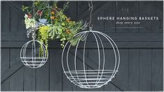 Sphere Hanging Baskets | shop every size