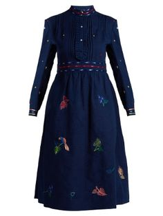 Rebecca floral-embroidered cotton dress | Thierry Colson | MATCHESFASHION.COM US