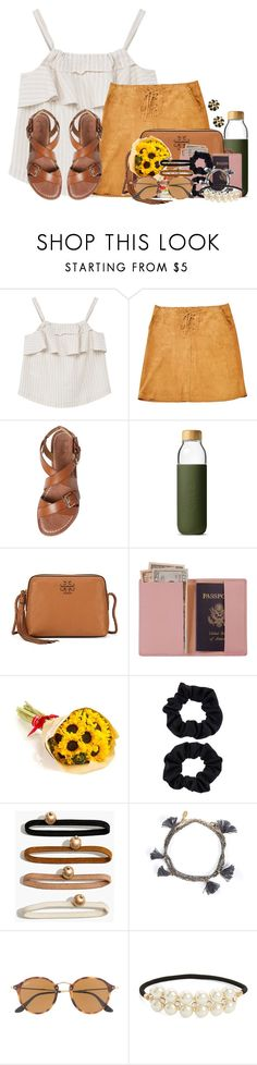 """""""What a great day! Full of laughs and friends"""" by flroasburn ❤ liked on Polyvore featuring MANGO, Gérard Darel, belle by Sigerson Morrison, Soma, Tory Burch, Royce Leather, Accessorize, Madewell, Shashi and Ray-Ban"""