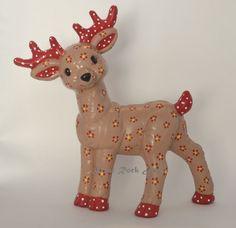 Christmas Ceramic Standing Reindeer