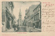 Gruß aus Forst N.L. mit Cottbuser Strasse , 1901, Forst Lausitz