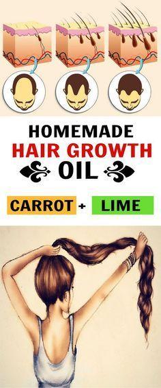 Carrot & Lime Homemade Hair Oil Recipe for Hair Growth