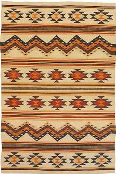 RugStudio presents Southwest Looms Dreamcatcher Wide Ruins Flat-Woven Area Rug Native American Blanket, Native American Rugs, Native American Patterns, Native American Regalia, American Indian Art, Southwestern Quilts, Southwest Decor, Navajo Weaving, Navajo Rugs