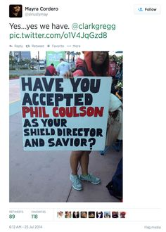Yes, we have.  #Coulson #AgentsofSHIELD #SDCC