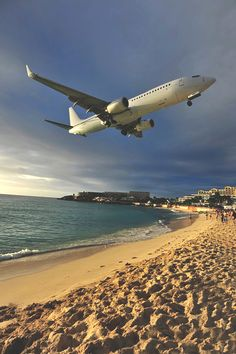 Maho Beach, St. Maarten - Infamous for the low flying airliners that pass overhead for their approach into the adjacent Princess Juliana Int'l Airport.