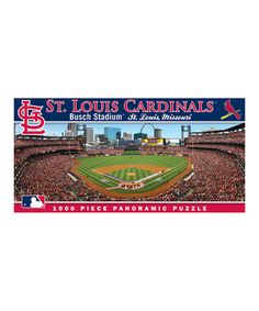 St. Louis Cardinals Panoramic Baseball Stadium Puzzle by Masterpieces #zulily #zulilyfinds