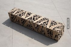 Just a bench made from logs