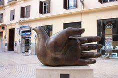 Friedenstaube in Málaga