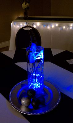 Lighted centerpieces looked great.