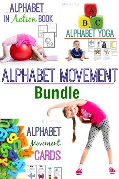 Alphabet Movement Bundle is perfect in the education setting.  Great for brain breaks for the classroom and incorporating movement with learning! - Pink Oatmeal