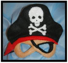 pirate mask from felt...I would fill in the eye patch with black felt.