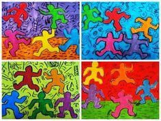 Keith Haring Kids Art Class, Art For Kids, Drawing Lessons, Art Lessons, Keith Haring Art, Artist Project, School Art Projects, Collaborative Art, Middle School Art