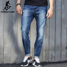 Jeans Male Fit Jean For Men Cotton Elastic Denim pants