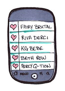 Your bizarre phone contacts if you're a derby girl...