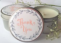 Items similar to Thank You Wedding Candle Gifts on Etsy Thank You Gift For Parents, Thank You Gifts, Gifts For Family, Gifts For Coworkers, Gifts For Friends, Parent Gifts, Soy Candles, Baby Shower Gifts, Wedding Gifts