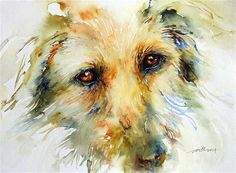 """Puppy Eyes"" - Original Fine Art for Sale - © Arti Chauhan"